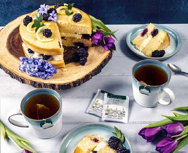 کیک ارلگری با لیمو و بلک بری